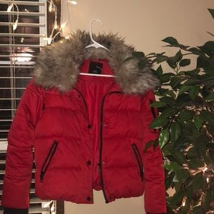 Red Riverside Island Coat